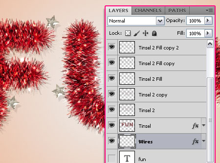 Bright Tinsel Text Effect step 7