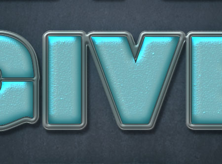 Turquoise Metallic Text Effect step 4