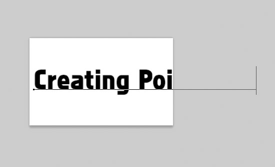 how to add points in photoshop text