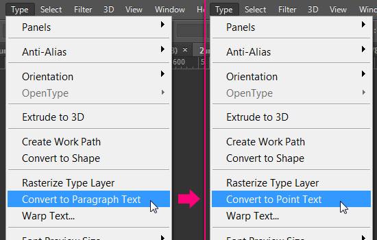 Type Tool in Photoshop CS6 – The Type Menu | Textuts