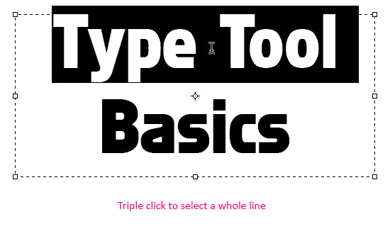 Photoshop CS6 Type Tool Basics