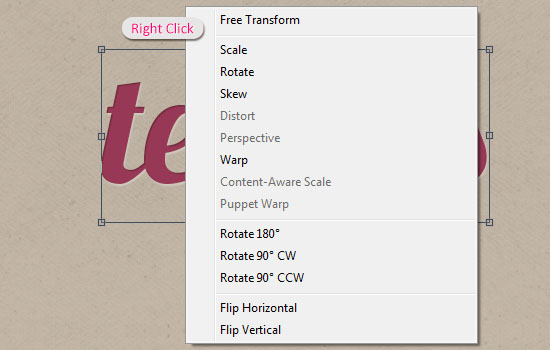 Type Tool in Photoshop CS6 - Free Transform Basics and