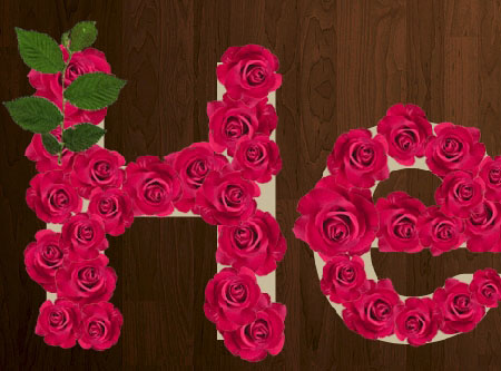 Velvet Roses Text Effect step 6