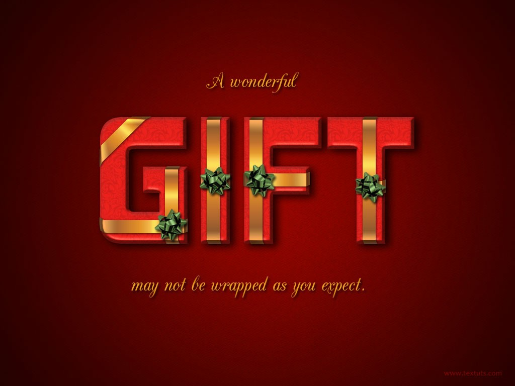 Wrapped gift box text effect gift box psd font textuts wrapped gift box text effect tutorial details baditri Image collections