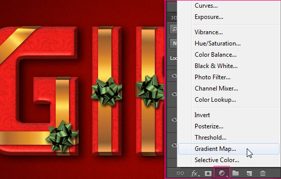 Wrapped Gift Box Text Effect step 10