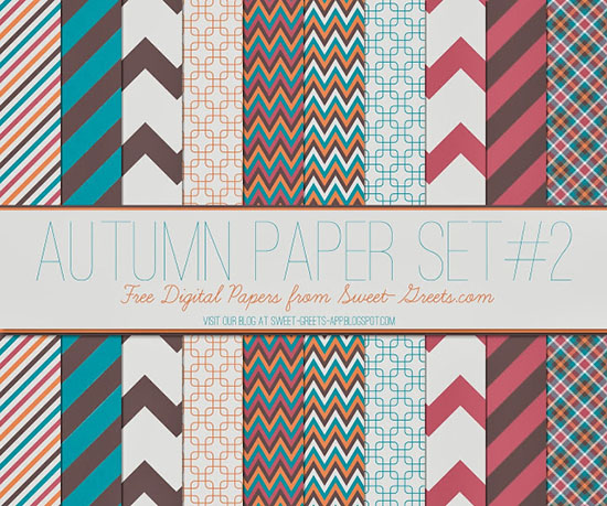 Autumn Digital Paper Set 2