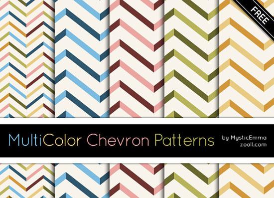 MuliColor Chevron Patterns Preview