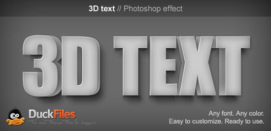 3d text effect v. 1 free download | free graphic templates, fonts.
