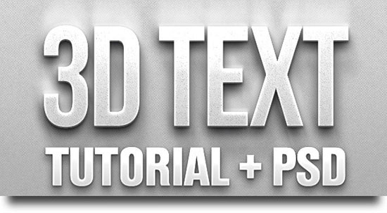 21 3D Text Effect In Photoshop