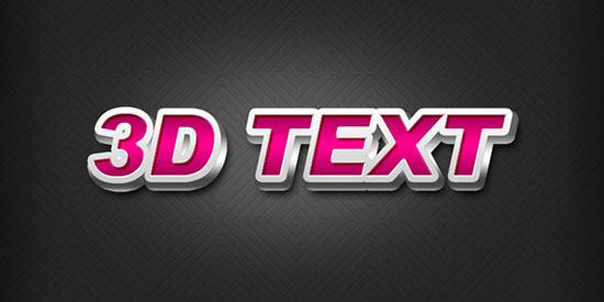 3d font