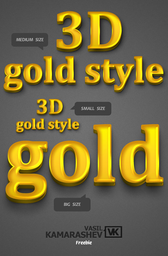 25 Free 3D Text PSD Files: Download 3D Font Effect | Textuts