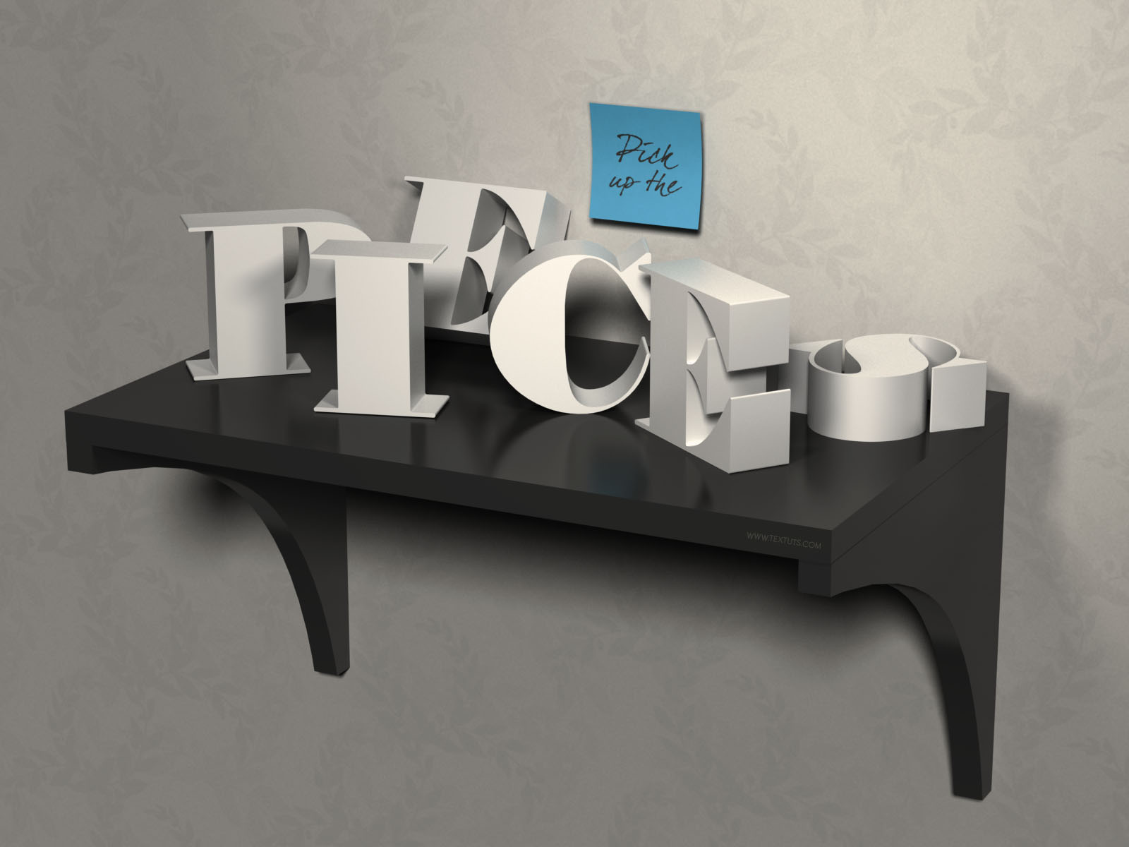 3d letters on a shelf text effect psd drawer font textuts 3d letters on a shelf text effect tutorial details baditri Gallery