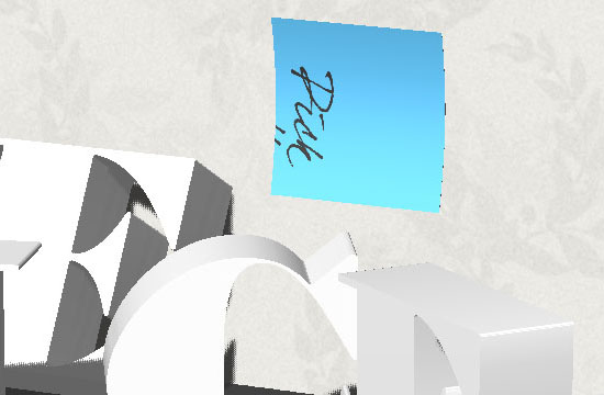 3D Letters on a Shelf Text Effect step 10