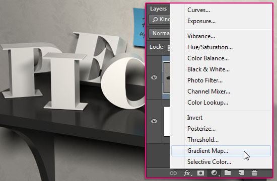 3D Letters on a Shelf Text Effect step 12