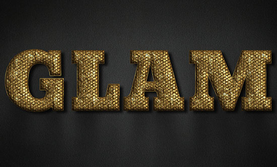 Glam Gold Text Effect
