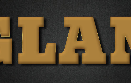 Glam Gold Text Effect step 3
