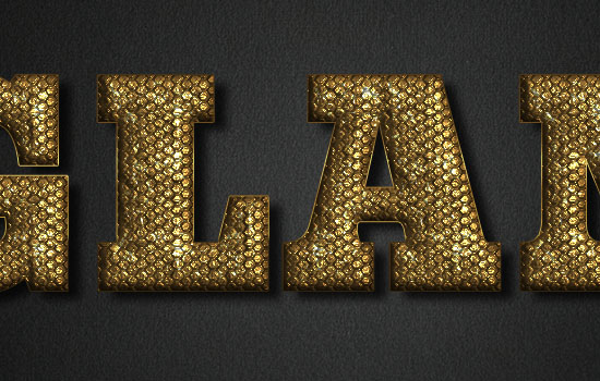 Glam Gold Text Effect step 5