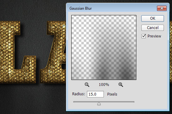 Glam Gold Text Effect step 6