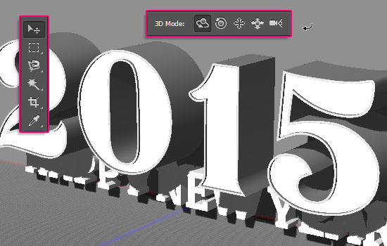 Shiny Reflective 3D Text Effect step 2