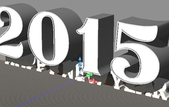 Shiny Reflective 3D Text Effect step 3
