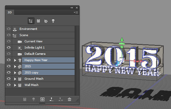 Shiny Reflective 3D Text Effect step 4