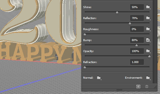 Shiny Reflective 3D Text Effect step 7