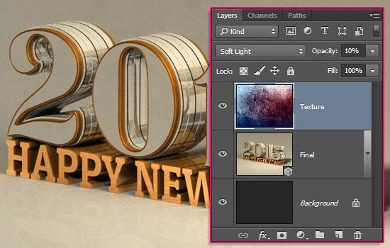 Shiny Reflective 3D Text Effect: Photoshop Gold Font | Textuts