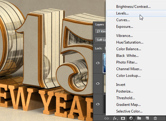 Shiny Reflective 3D Text Effect step 10