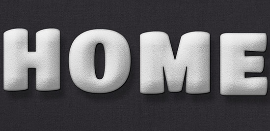 Stuffed Wool Text Effect step 3