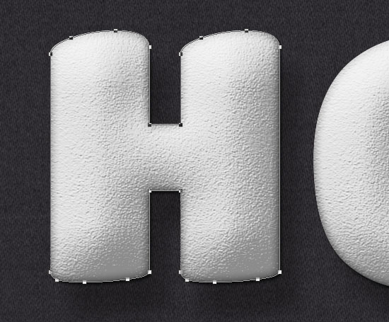 Stuffed Wool Text Effect step 4