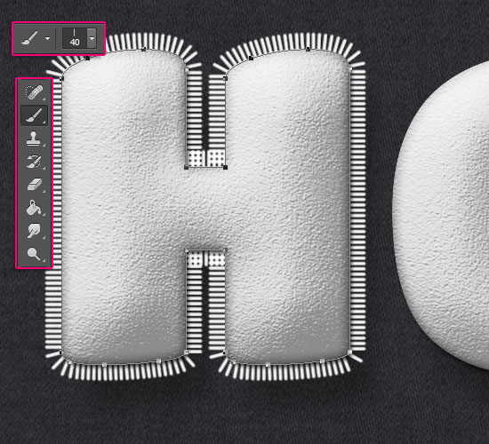 Stuffed Wool Text Effect step 5