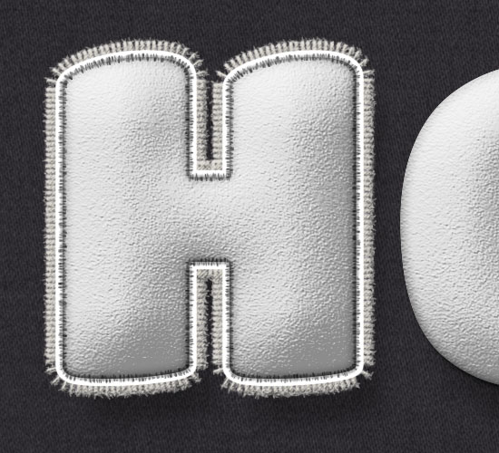 Stuffed Wool Text Effect step 8
