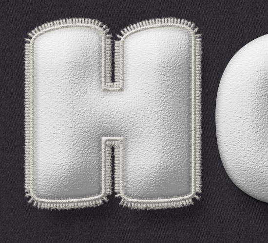 Stuffed Wool Text Effect step 9