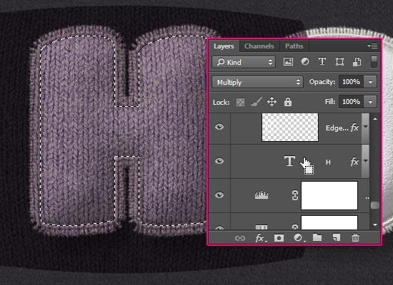 Stuffed Wool Text Effect step 10