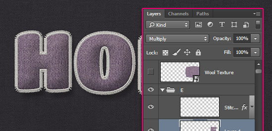 Stuffed Wool Text Effect step 10