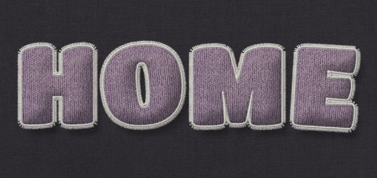 Stuffed Wool Text Effect step 11