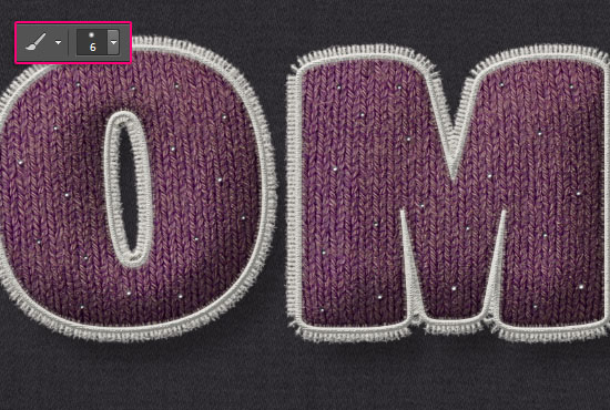 Stuffed Wool Text Effect step 12