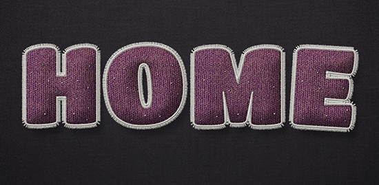 Stuffed Wool Text Effect