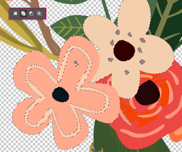 Floral Text Effect step 1