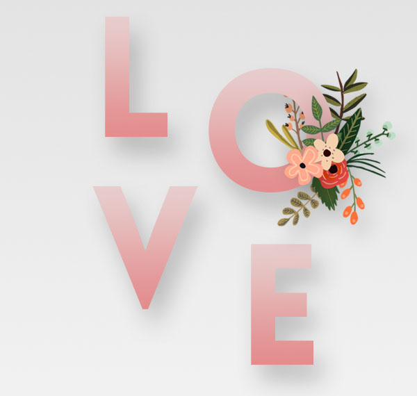 Floral Text Effect step 4