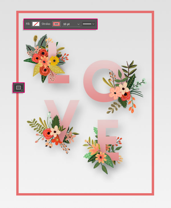 Floral Text Effect step 5